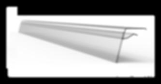 Profilé porte-prix F pour tablette en verre