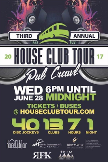House Club Tour Pub Crawl Ticket