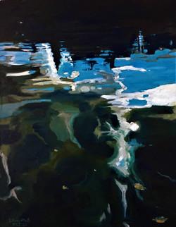 Отражение в воде Истринского вдхр. 04.2020