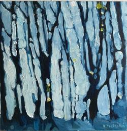 Синий свет сквозь деревья. 2020