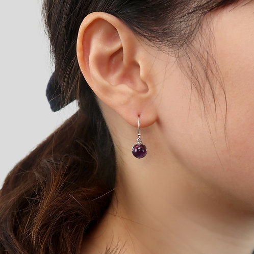 MIRROR / AMETHYST EARRINGS