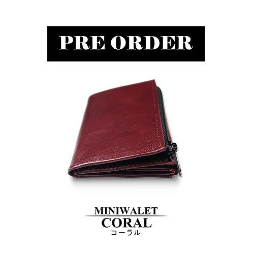 miniwallet coral color
