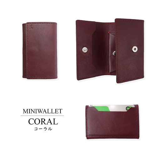 MINI WALLET/CORAL