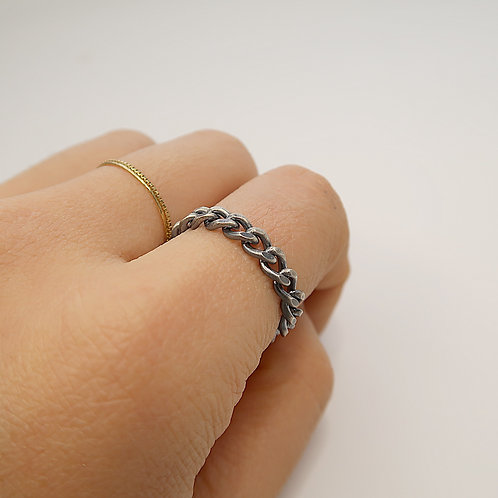 KIHEI <M> CHAIN RING / OXIDIZED