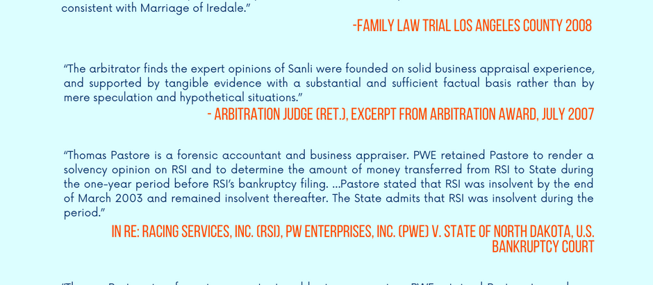 Litigation Testimonials - Leading Experts in Dispute Resolution