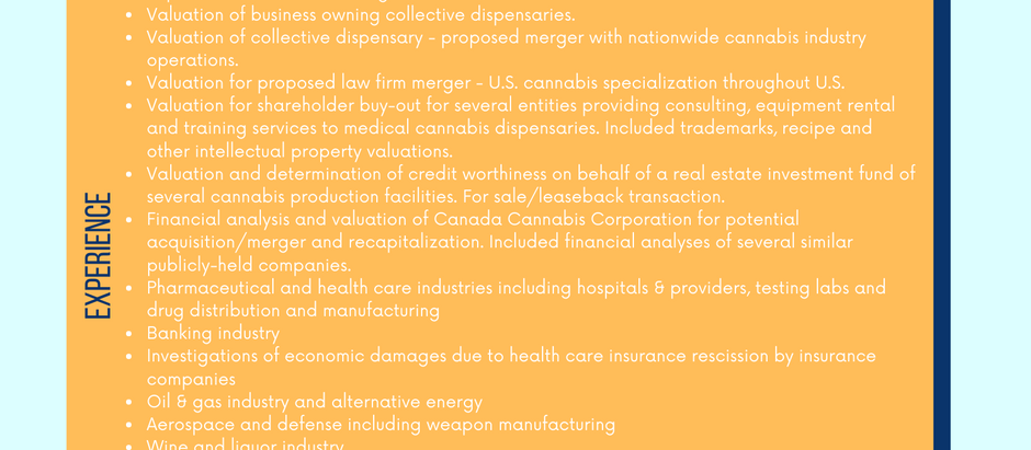 Cannabis & Other Highly Regulated Industries Experience