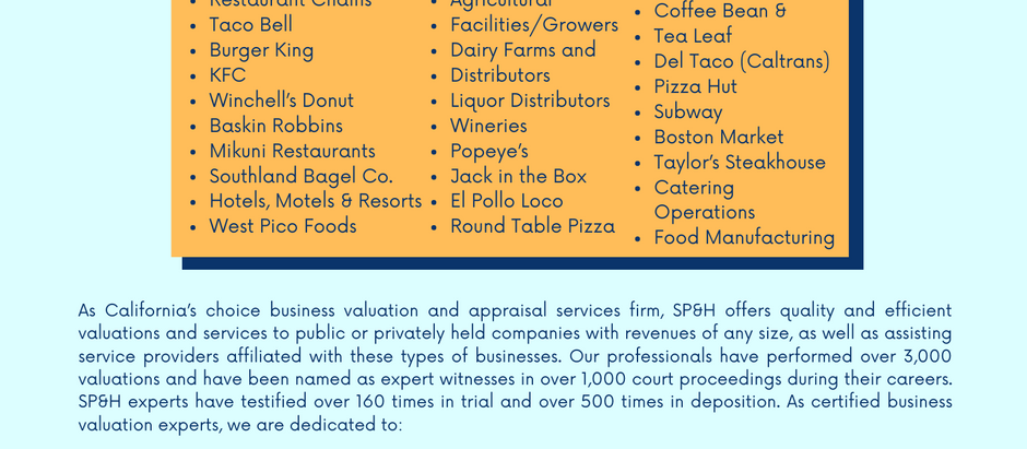 Hospitality & Food Industry Experience
