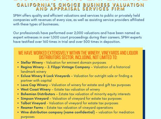Wineries, Vineyards & Distributors Experience