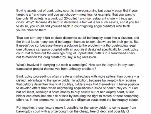 Buying Bankrupt Franchises