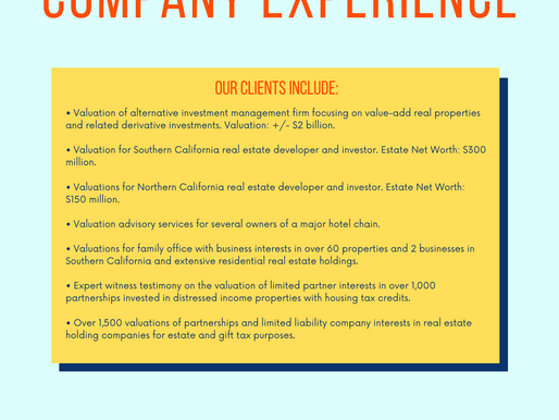 Real Estate Holding Company Experience