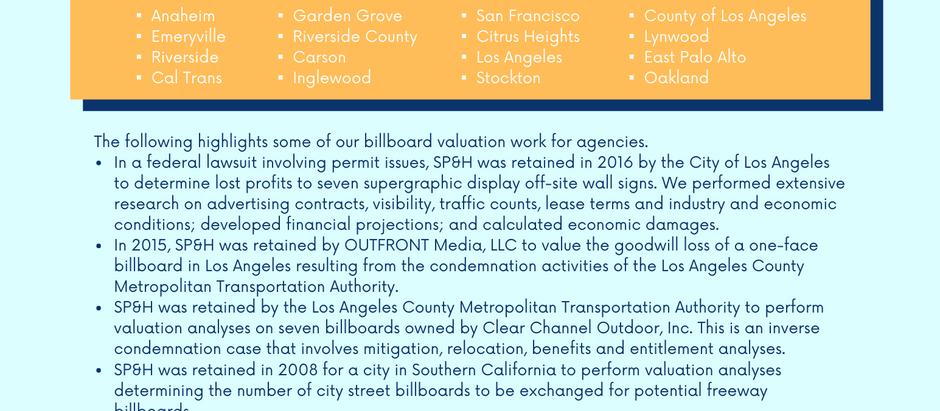 Billboard Industry Valuation Experience
