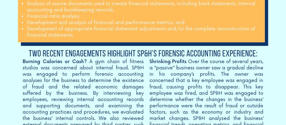 Forensic Accounting, Forensic Finance, Forensic Economics