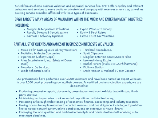 Music & Entertainment Industry Experience