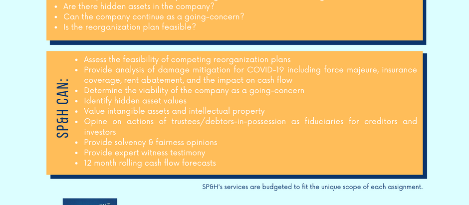 Business Valuations for Corporate Reorganizations & Bankruptcy