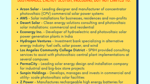 Clean & Sustainable Energy Industry Experience