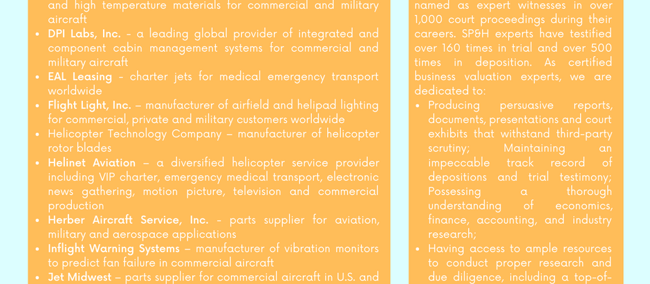 Aerospace & Aviation Industry Experience