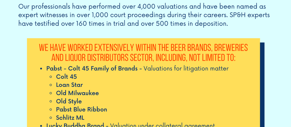 Beer Brands, Breweries, & Distributors Experience