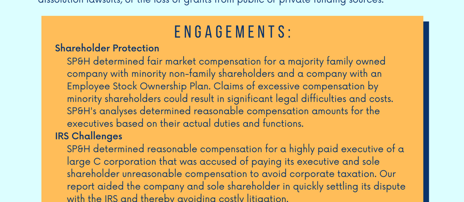 Independent Analysis of Executive Compensation