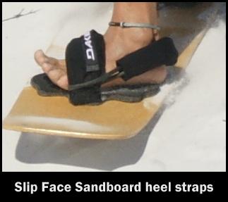 Sandboard heel straps