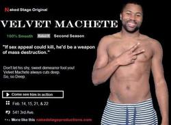 velvet machete