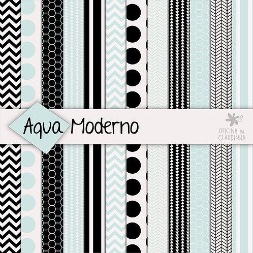 Aqua moderno | Papéis impressos