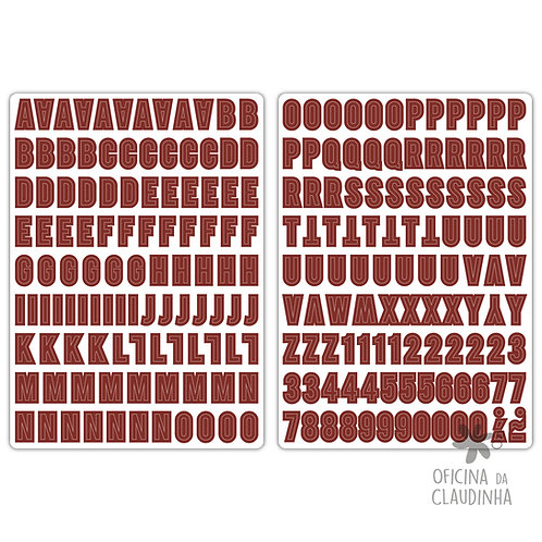 Belde Vermelho | Alfabeto digital