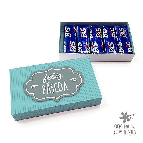 Caixa de Páscoa para 5 Bis - Azul Tag