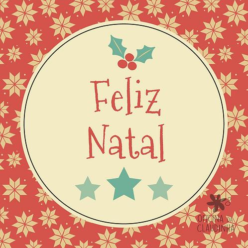 Card Feliz Natal 02 - Vintage Azul