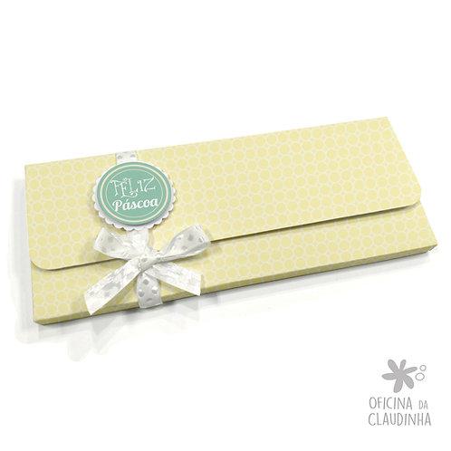Caixa para 1 barra de chocolate - Delicatesse Amarelo