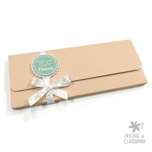 Caixa para 1 barra de chocolate - Delicatesse Laranja