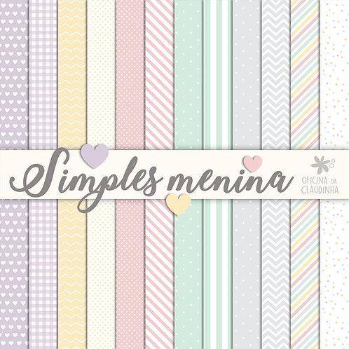 Simples menina | Papéis digitais