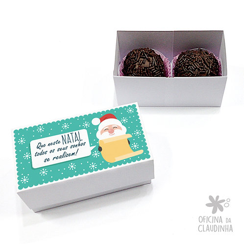Caixa para 2 doces - Papai Noel realiza sonhos