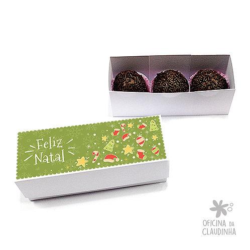 Caixa para 3 doces - Natal Verde