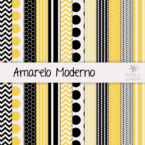 Amarelo moderno | Papéis impressos