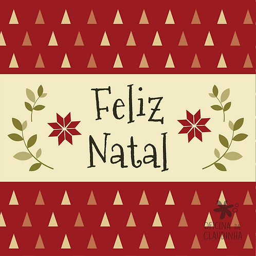 Card Feliz Natal 05 - Vintage Vermelho e Verde