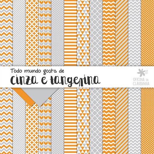 Todo mundo gosta de cinza e tangerina | Papéis impressos