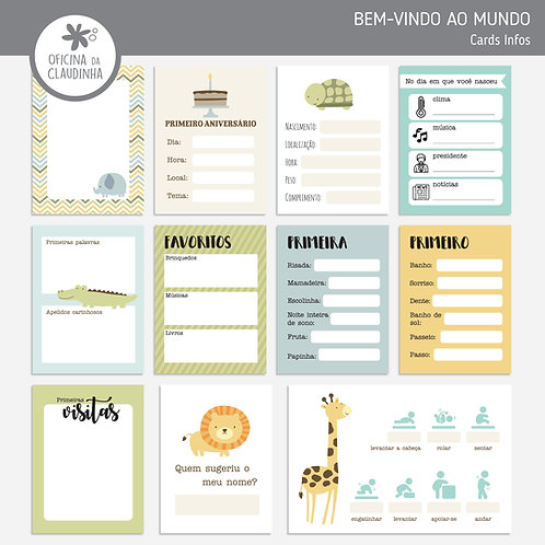 Bem-vindo | Cards de informações digitais