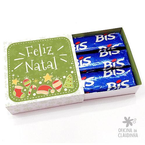 Caixa para 3 Bis - Natal Verde
