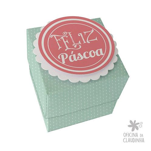 Caixa de Páscoa para 1 Ferrero Rocher - Delicatesse Azul Flor