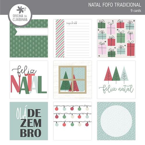 Natal fofo tradicional | Cards impresso