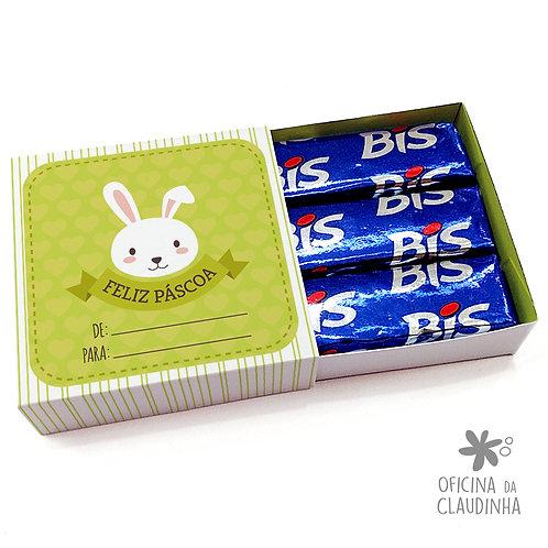 Caixa de Páscoa para 3 Bis - Coelho Verde De/Para