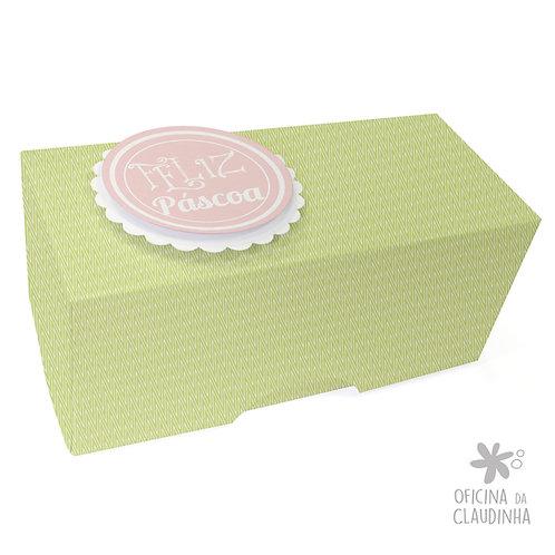 Caixa de Páscoa para 1 Bombom - Delicatesse Verde Chev