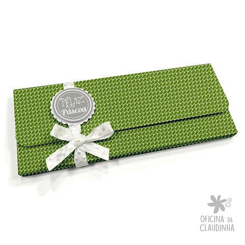 Caixa para 1 barra de chocolate - VB Verde Folha