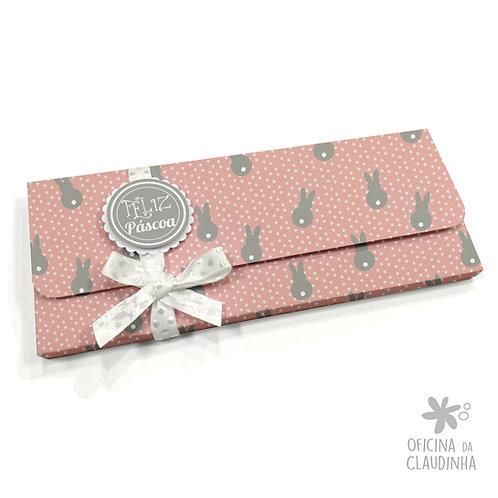 Caixa para 1 barra de chocolate - Rosa Coelhos