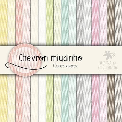 Chevron miudinho - Cores suaves | Papéis impressos