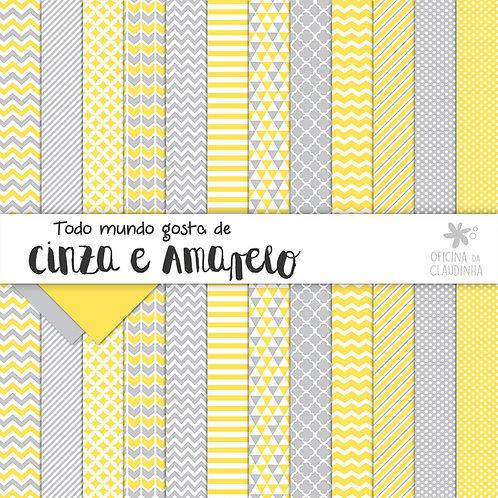 Todo mundo gosta de cinza e amarelo | Papéis digitais