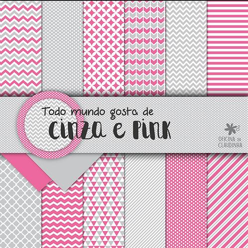 Todo mundo gosta de cinza e pink | Papéis impressos