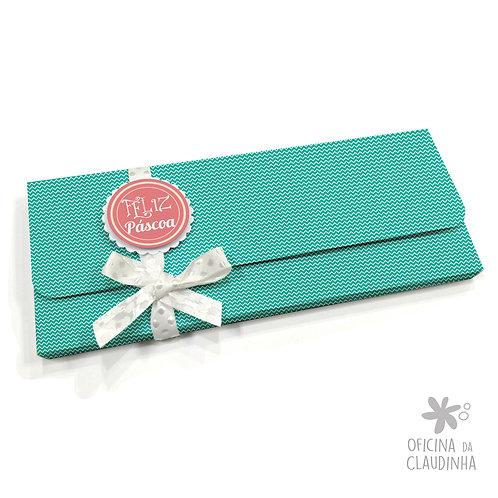 Caixa para 1 barra de chocolate - VB Turquesa