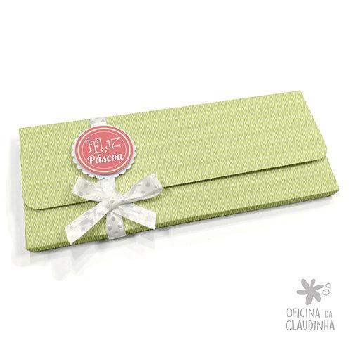 Caixa para 1 barra de chocolate - Delicatesse Verde Chev