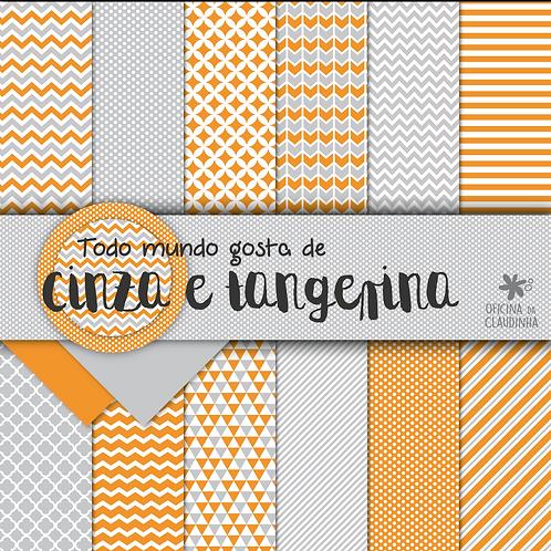 Todo mundo ama cinza e tangerina | Papéis digitais